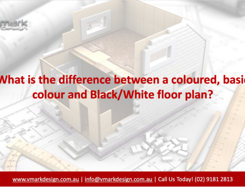 Difference Between Colour and Black/White Floor Plan